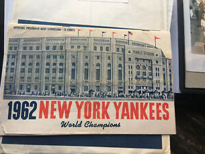 1962 New York Yankees Vs Angels Scorecard