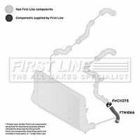 Turbo Hose fits AUDI A3 8P 1.9D Front Lower, Left 03 to 10 BLS Charger Firstline