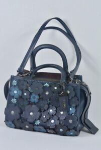 COACH 1941 limited Rogue 25 Flower Tea Rose Blue Navy Copper Blk Handbag Bag