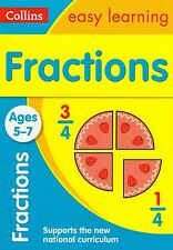 Collins Easy Learning Fractions Ages 5-7 by A & M Blackwood NEW (Paperback 2015)
