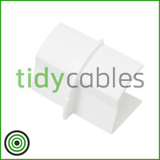 D-Line 22x22mm Quadrant TV Floor Cable Tidy - Joint Coupler / Connector