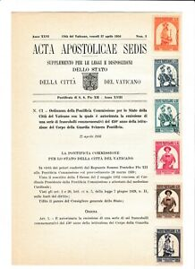 s39533 VATICANO ACTA APOSTLICAE SEDIS 27 4 1956 Guardia Svizzera
