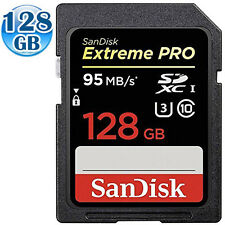 SANDISK EXTREME U3 PRO SDXC UHS-I CLASS10 128GB 128G SDHC SD Memory Card 95MB/s*