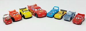Disney Pixar Cars Lot of 8 Toy Plastic & Wood Vehicles - McQueen Pull-Back