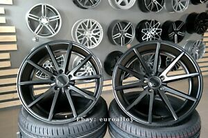 New 20 inch 5x120 HAXER HX014 VFS 1 style rims BMW CONCAVE Wheels BLACK MATT