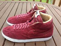 Nike Blazer Burgundy Red Mid SP Trainers Sneakers Running Ladies UK 5 (EU 38)