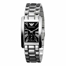 Emporio Armani AR0157 Black Dial/Stainless Steel Women's Watch
