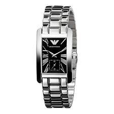 Emporio Armani ar0157 schwarzes Zifferblatt/Edelstahl Damen Uhr