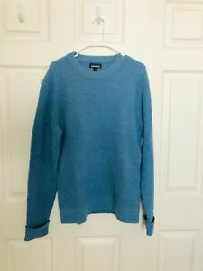 PATAGONIA Men's Recycled Wool Sweater Blue Knit Size Blue