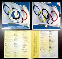 1996 BELGIUM - OFFICIAL BU MINT SET (10) - ATLANTA '96 OLYMPICS - RARE!