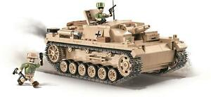 COBI 2529 Assault Gun III Ausf. D German Tank Cannon 530 Premium Blocks
