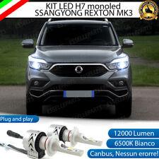 KIT LED H7 SSANGYONG REXTON MK3 6500K CANBUS XENON 12000LM LUMEN MONO LED