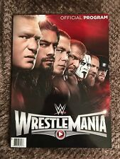 Official WWE Wrestlemania 31 & Hall of Fame Dual Program Sting, Rollins, Lesnar