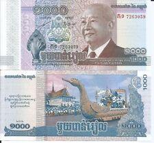 CAMBOYA 1000 RIELS 2012 PICK 63 LOTE DE 5 BILLETES