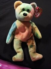Rare 1993 Garcia Bear Grateful Dead Ty Beanie Baby Pvc Numerous Errors see pics