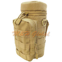 MOLLE Water H20 Hydration Utility Pouch Water Bottle Carrier - TAN