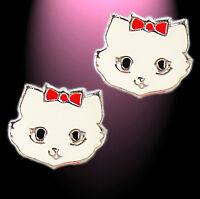 Ohrringe Ohrstecker Kinder Ohrschmuck Katze Kätzchen 925 Silber