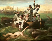 Watson and the Shark A1+ by John Singleton Copley High Quality Canvas Print