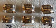 925er Sterling Silber - 6 Serviettenringe mit Ägyptischen Motiven