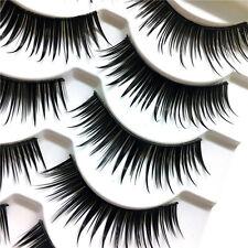 5Pairs Handmade Black Thick False Eyelashes Long Fake Eye Lashes Extention Tools