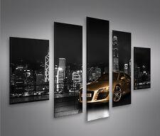 Audi R8 V3 MF 5 Bilder auf Leinwand Bild Wandbild Poster Kunstdruck