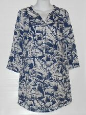 L.O.G.G. H&M Ladies 3/4 Sleeve Tunic Dress Navy & White Four (4) NWT