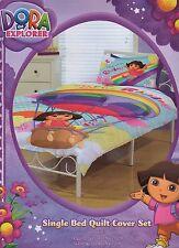 Dora The Explorer Quilt Cover Set Single Bed Doona Pillowcases Kids New!