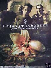 Vision Of Disorder 2001 Bliss To Devastation Original Promo Poster