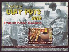 PAPUA NEW GUINEA 2012 CLAY POTS MINIATURE SHEET UNMOUNTED MINT, MNH