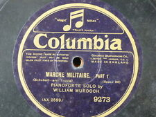 "78 rpm 12"" WILLIAM MURDOCH [ piano solo ] SCHUBERT marche militaire 1&2"