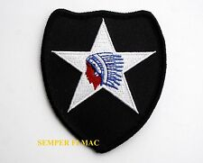 2ND INFANTRY DIVISION HAT PATCH ID US ARMY VETERAN GIFT PIN UP BADGE GIFT INDIAN