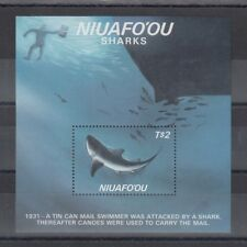 TIMBRE STAMP BLOC NIUAFO'OU TONGA Y&T#5 REQUIN POISSON NEUF**/MNH-MINT 1987 ~B31
