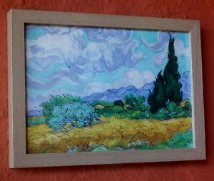 "LOVELY DECOR PIECE ! Van Gogh "" Cypresses "" Framed Print BRAND NEW"