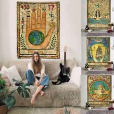 Tarot Card Vintage Tapestry Witchcraft Astrology Home Decor Blanket Wall Cloth