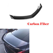 Rear Trunk Spoiler Lid Tail Wing Fit for Cadillac ATS 2014-2016 Carbon Fiber