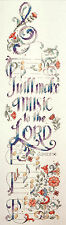 Cross Stitch Kit ~ Design Works Inspirational Make Music to the Lord #DW2784