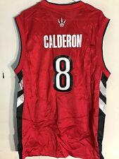 Adidas NBA Jersey Toronto Raptors Jose Calderon Red Throwback sz L