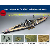 TMW 1/350 Bismarck Super Upgrade Set for Tamiya 78013/ Revell 05040/ HobbyBoss 8