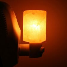Natural 110V Mini Hand Carved Crystal Himalayan Salt Wall Lamp Night Light(US)