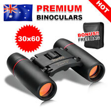 30x60 Portable Pocket Binoculars Folding Compact Small Travel Telescope With Bag