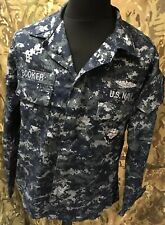 Genuine US Navy Blue Digital Camouflage Lightweight Working Jacket Various Sizes