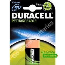 1 x Duracell 9V PP3 Block 170 mAh Rechargeable Batteries HR22 6LR61 HR9V DC1604