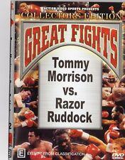 TOMMY MORRISON VS RAZOR RUDDOCK + ROBERTO DURAN VS RONI MARTINEZ BOXING DVD