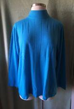 Women's Roaman's Plus 100% Acrylic Turquoise Blue Sweater New $54.99 L XL Soft