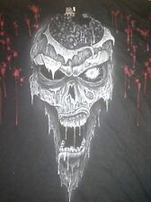 Airbrushed ZOMBIE Tee shirt One of a Kind Mens XL