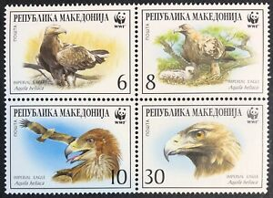 Macedonia - 2001 - WWF - Imperial Eagle - Set & FDCs - Unmounted Mint.