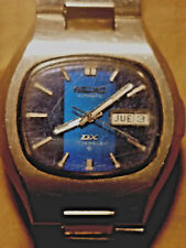 Vintage Mens Seiko Automatic 17 Jewels Day Date Stainless 6106-5549