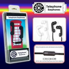 Auriculares Novedad Teléfono Diseño con Función de Micrófono de Blanco o Negro