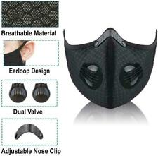 NEW Face Shield Cover with Filter Black Valve Fashion Outdoor Sports Scarf