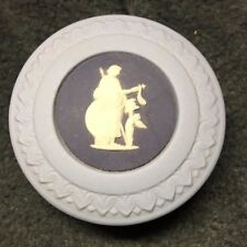 "Wedgwood Jasperware - Blue Pill Box - 2"" diameter in Mint Condition"